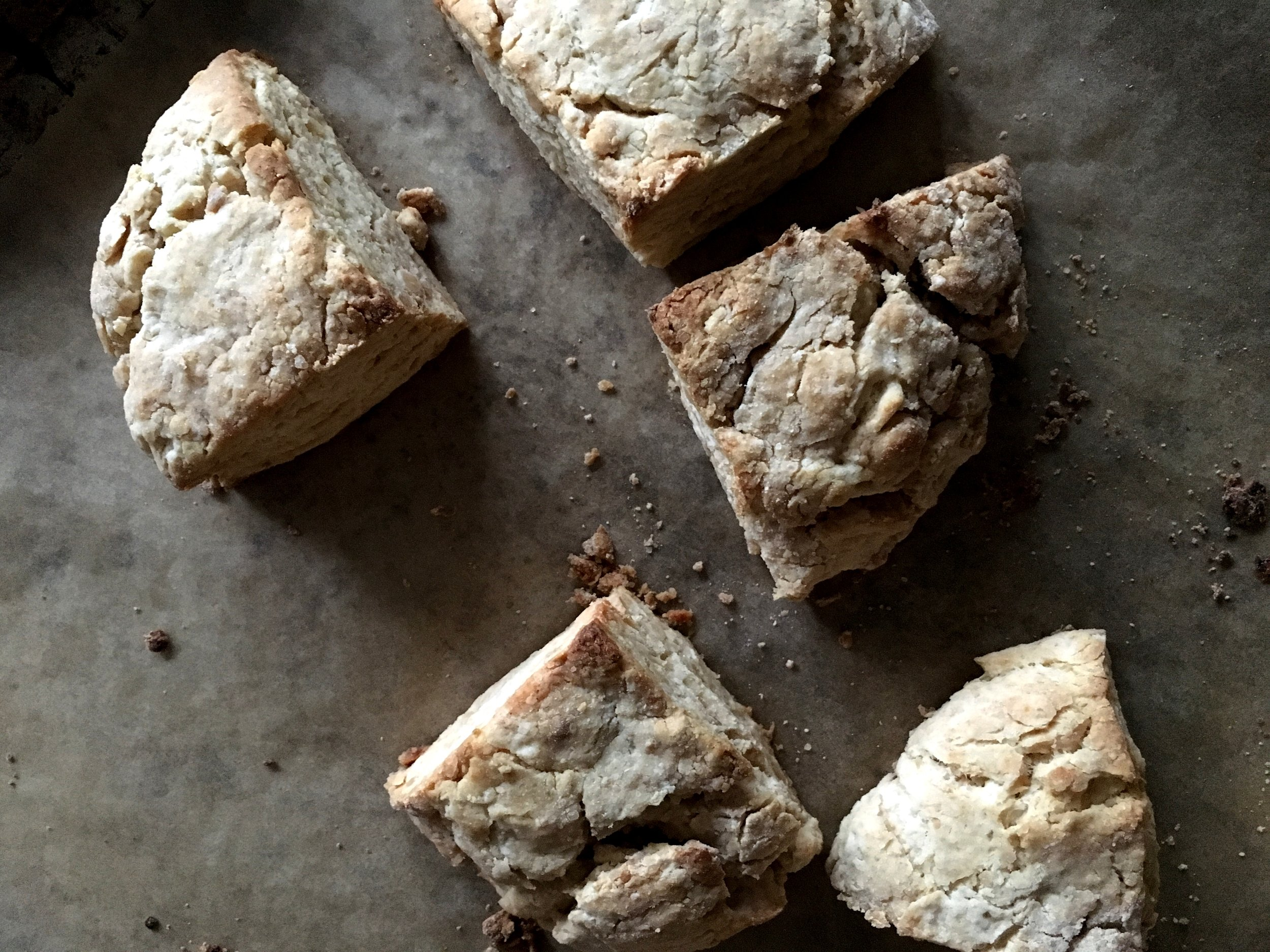 Vegan peanut butter scones