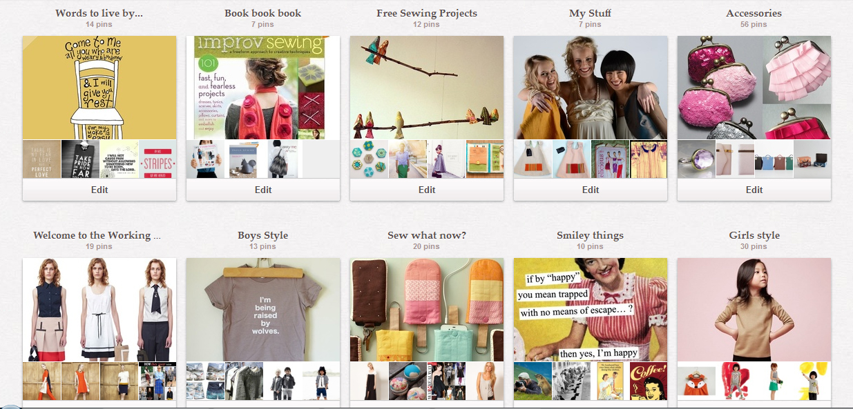 Here's just some of my Pinterest boards!