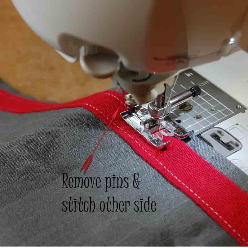 9.  Stitch ties