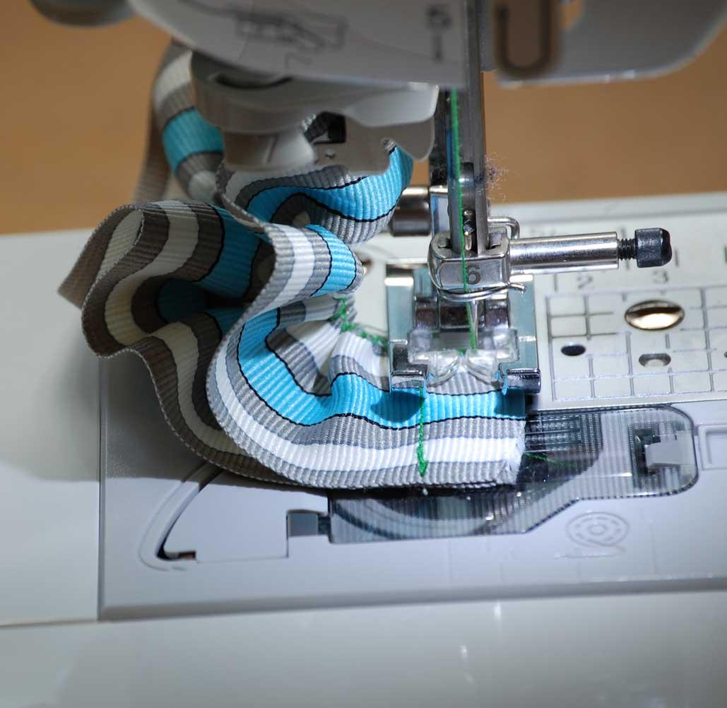 6.  Stitch ruffle ends