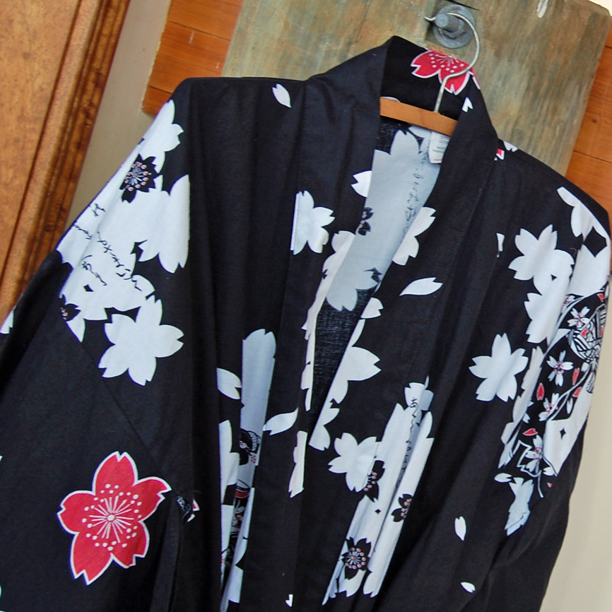 Kimono made for 7 foot giant needed a good 15 cm lopped off.