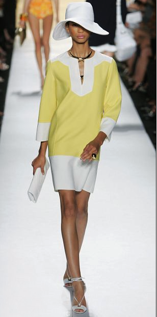 Caftan from Michael Kors.  Christian Dior 2012 resort collection showed a very similar caftan as well.