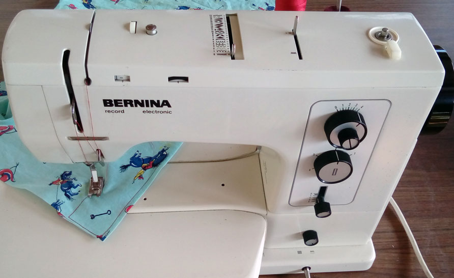 My $15 Bernina sewing machine - 37 years young and expected to live at least another 20 years!