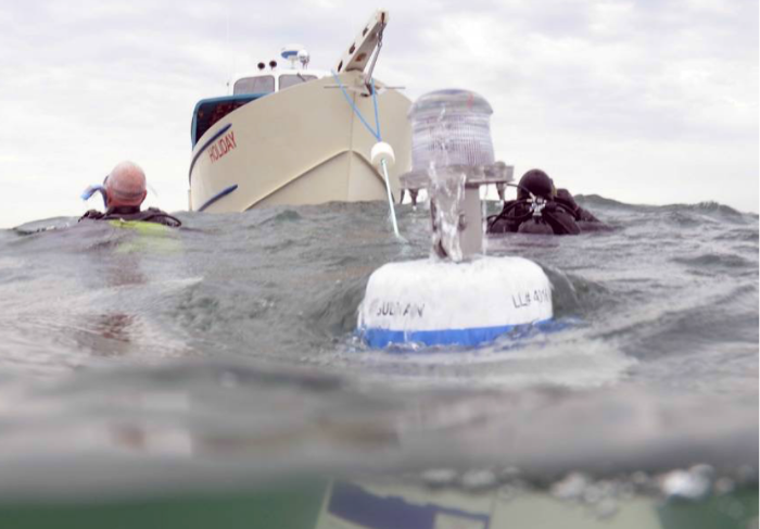 Holiday moored to Sultan buoy (Photo by Chris Kraska, MAST)