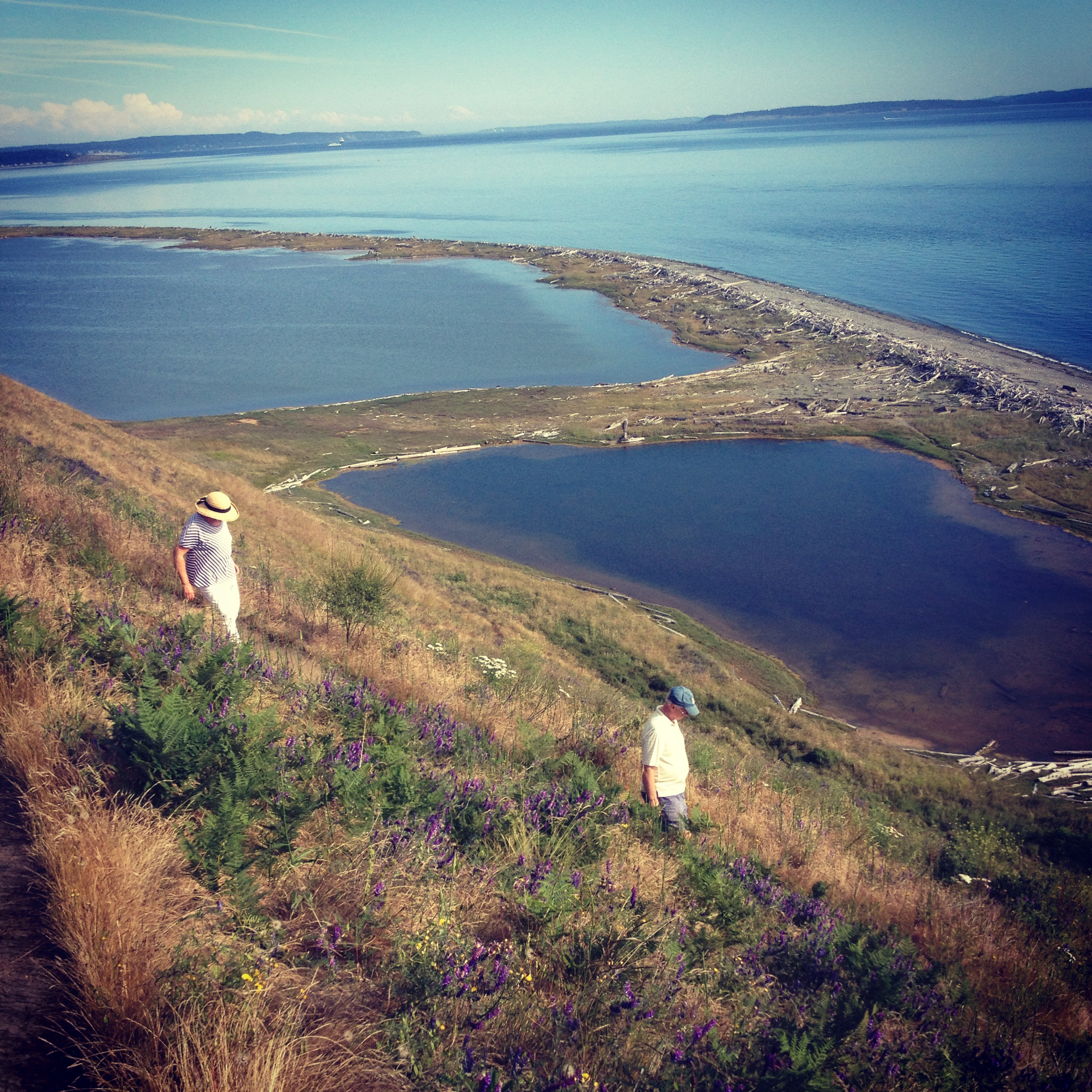 Our regular trek to Ebey's Landing