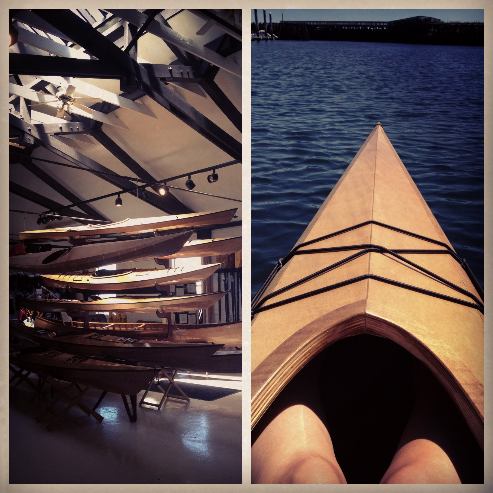 Pygmy kayak test run - Dave's building one this winter!