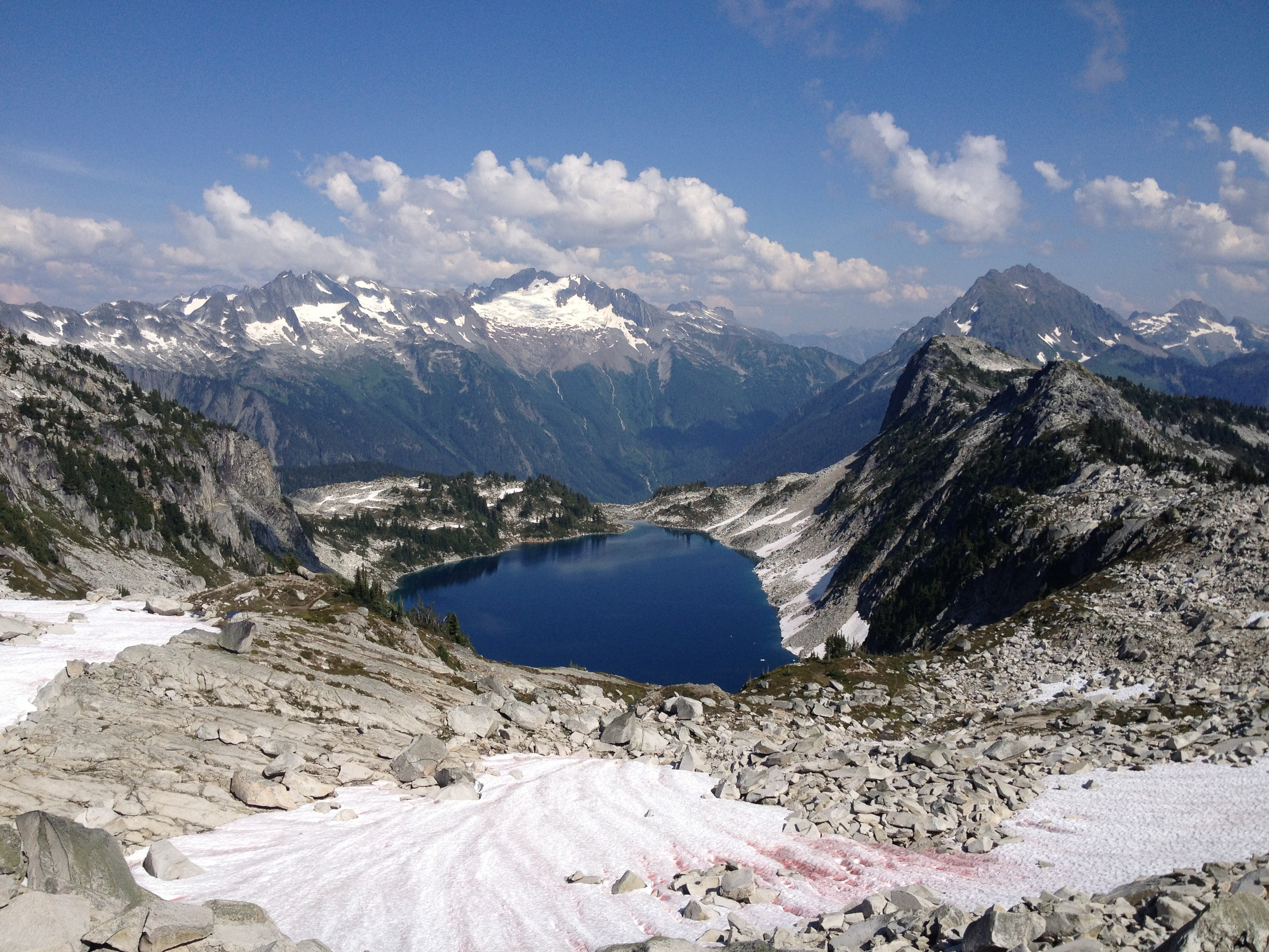 The reward at the top was spectacular - Hidden Lake.