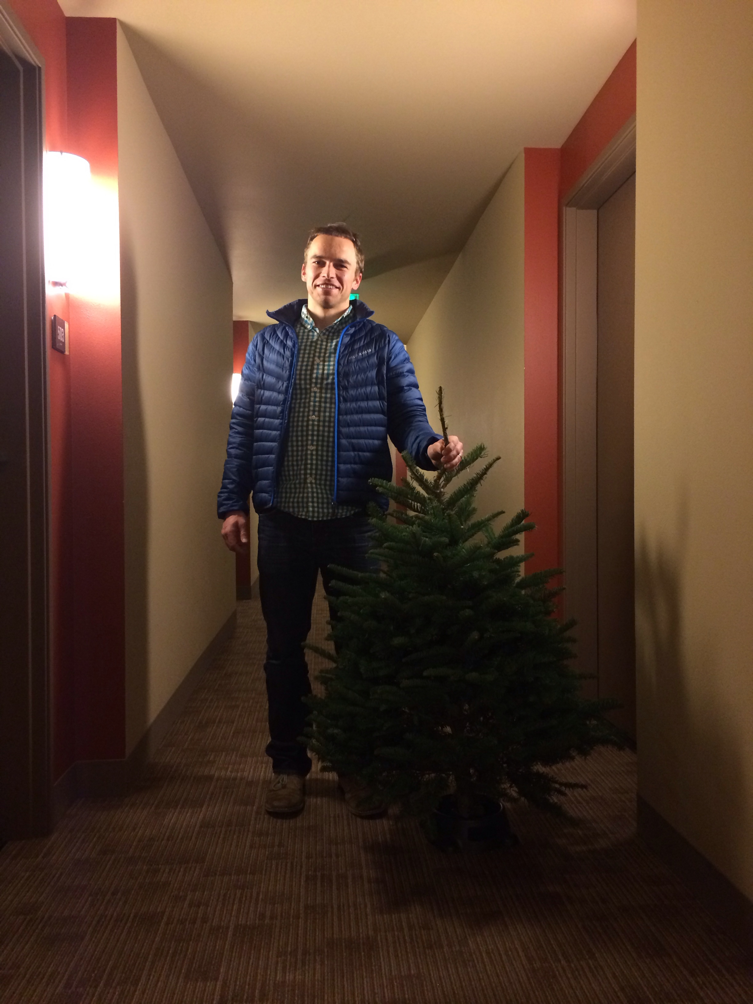 We picked out a Christmas tree right after we left the midwife's office that night.