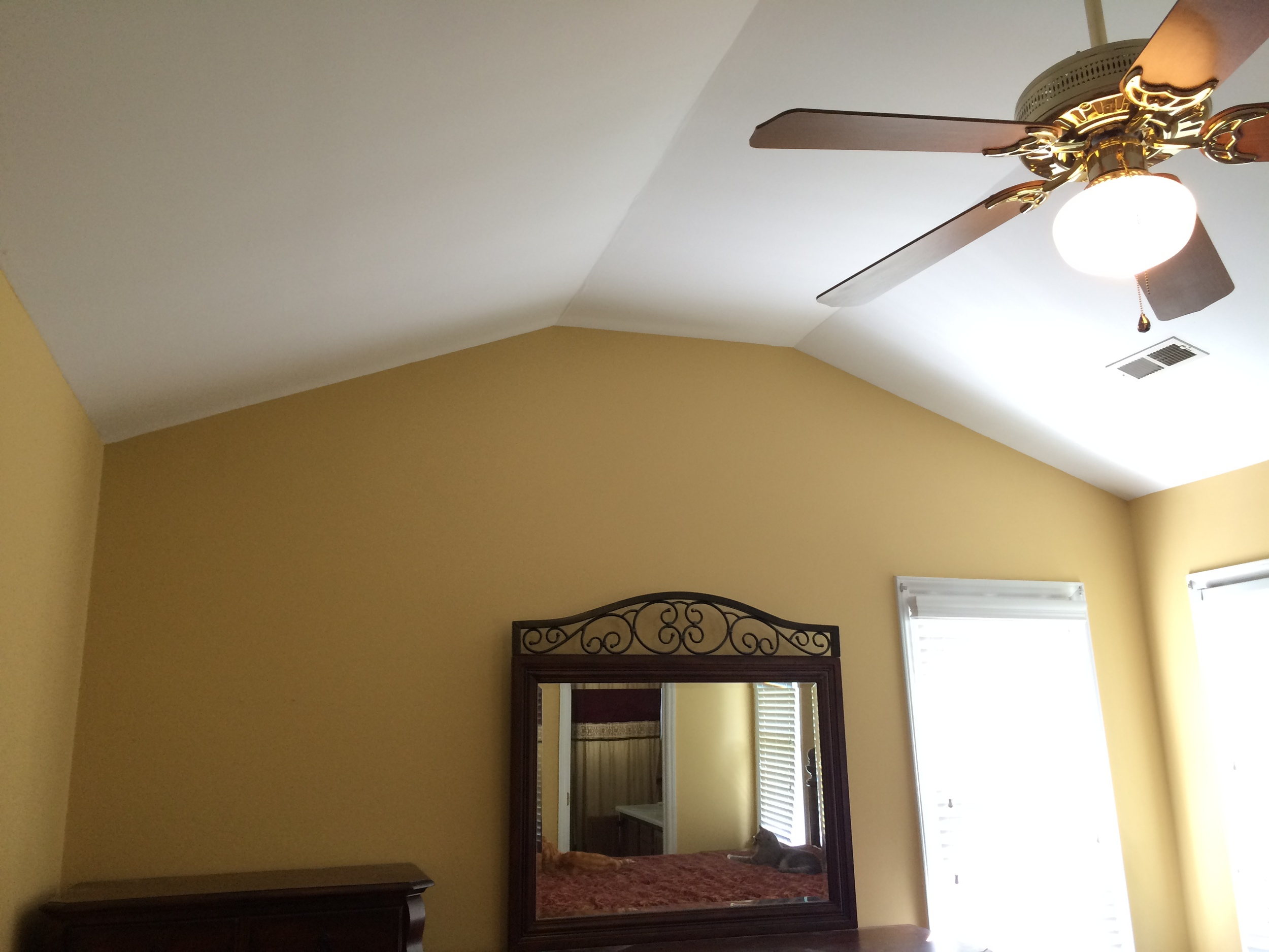 Master bedroom — more delicious gold.