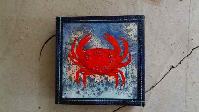 Crab 1  6 x6    $55.jpg