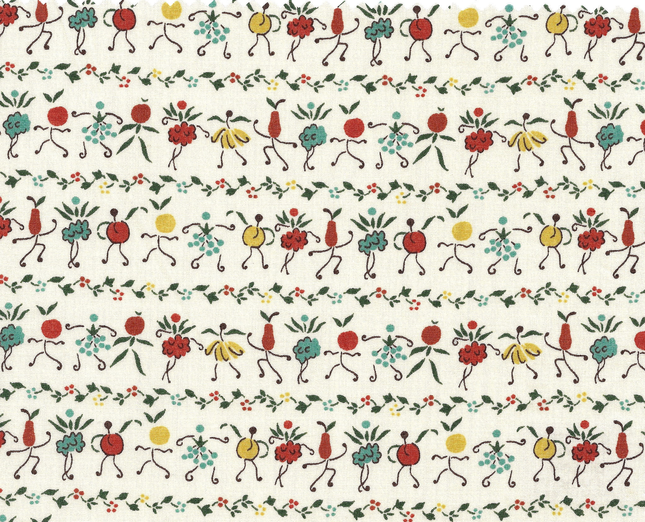 Digitally remastered 1930's Liberty print. Jolly sweet and eccentric.