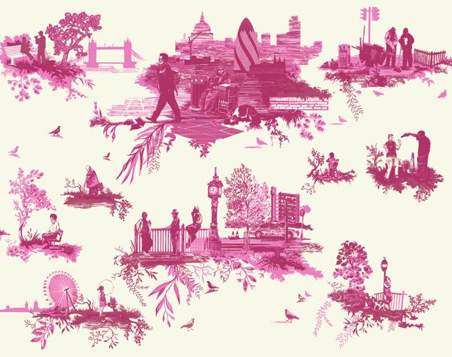 London Toile fabric by Timorous Beasties