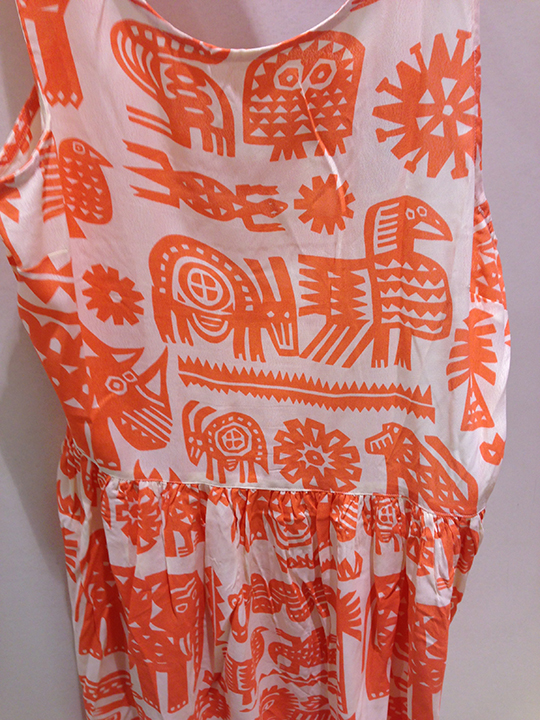 I loved this fun 90's African conversational print