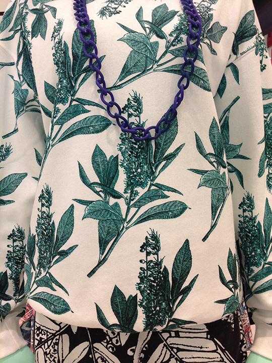 My Total Favourite printed sweat shirt-tropical botanical