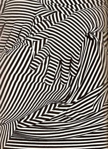 intersecting  Black and white stripes
