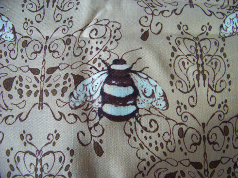 bee printed fabric