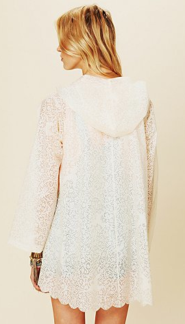 printed lace rain coat Free people