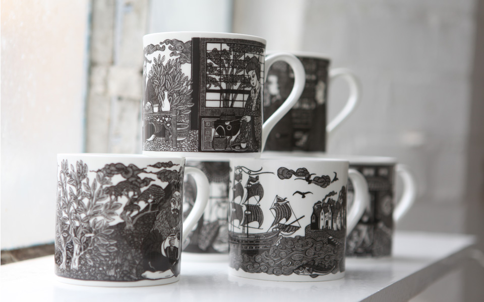 Fanny Shorter - Stunning mugs commissioned by Twinings