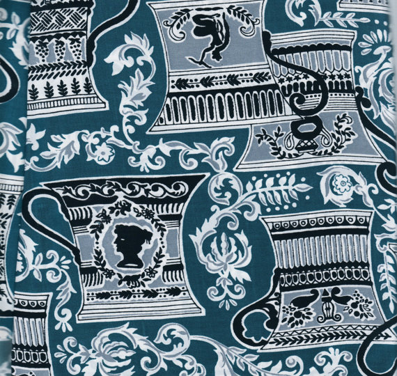 Greek tea cup fabric etsy
