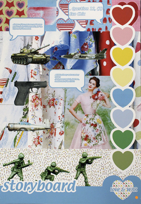 Anne Marie Jackson Love and War Concept- RSA winner of the Lucienne Day Print award and the Australian Wool Innovation