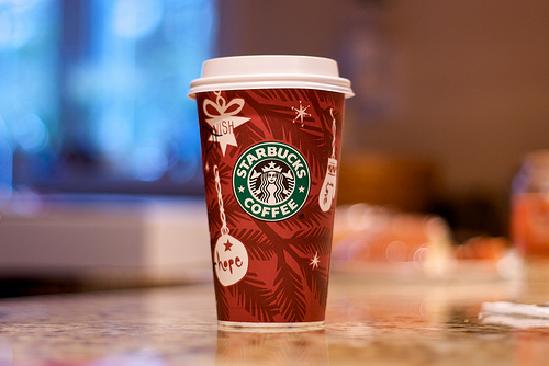 I also have a question regarding the origins of the art on the Starbucks Red Cup.  Is this a Rob Ryan creation?  Anyone know???