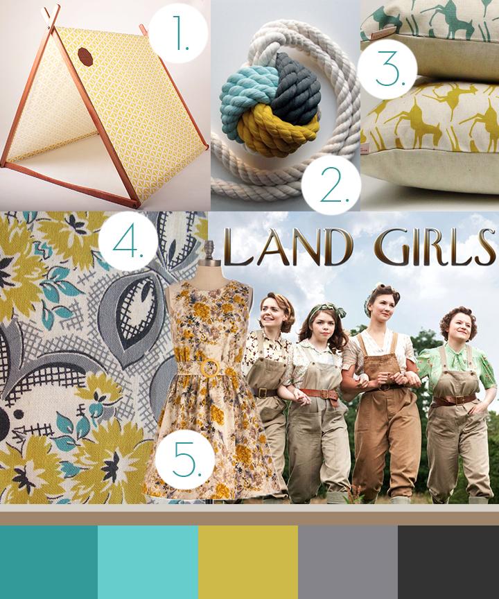1940 Land Girl trend Anne Marie Jackson
