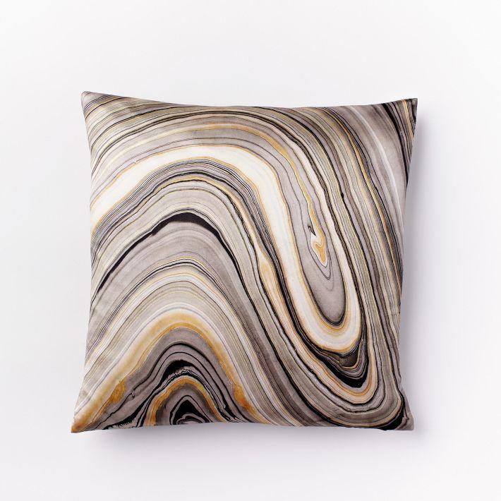 Marble Printed Silk West Elm