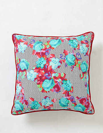 Netted Floral Pillow Anthropologie