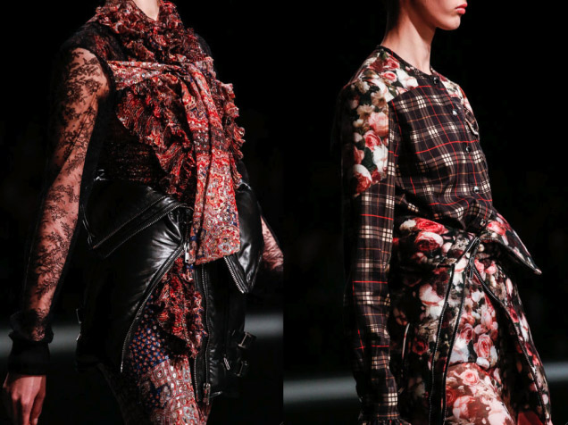 Givenchy winter floral and plaid