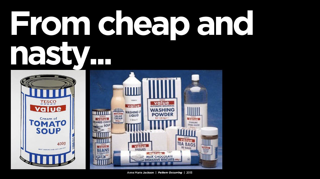 Tesco Value Packaging Cheap and Nasty