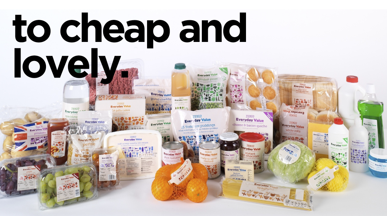 Cheap and Lovely Tesco New Packaging