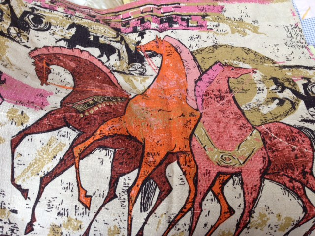 1950's crazy horse print