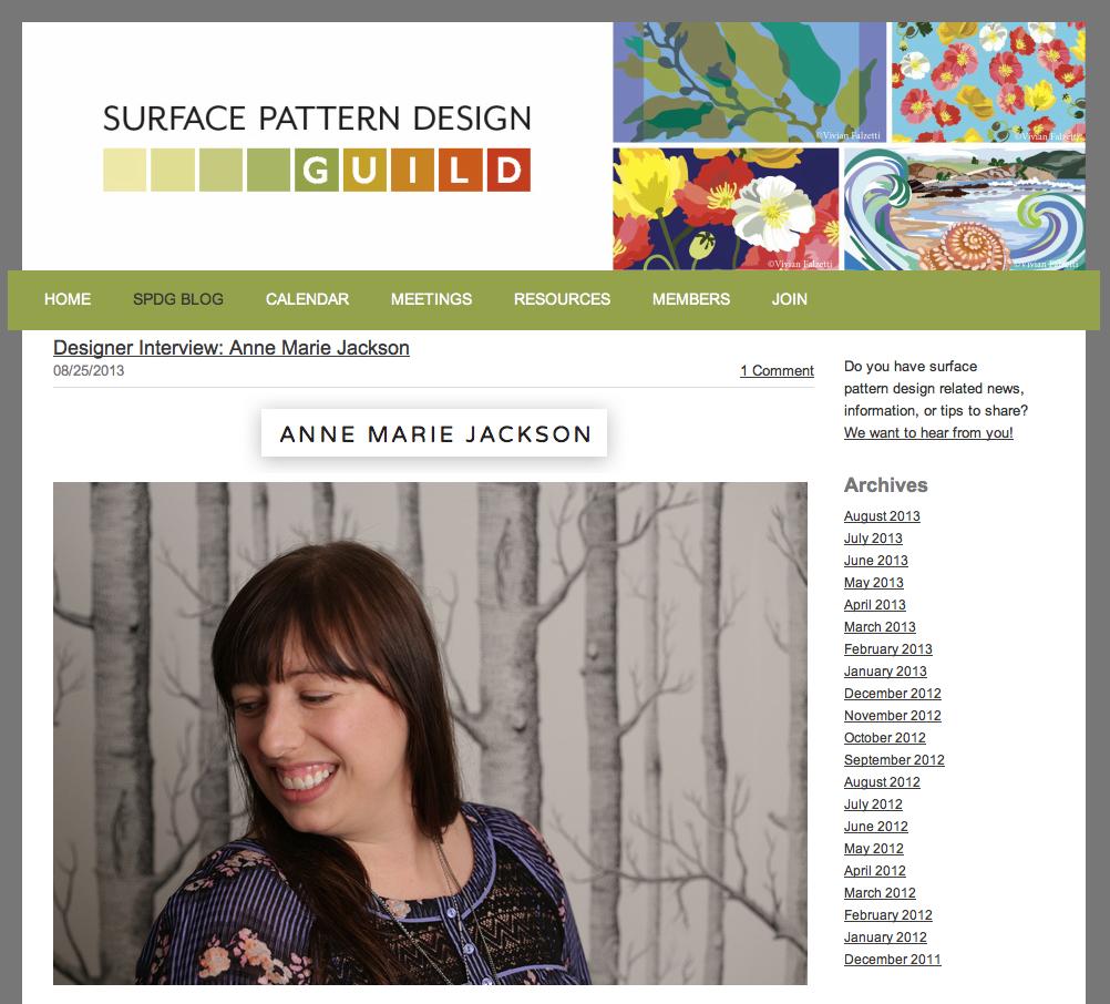 Anne Marie Jackson textile designer