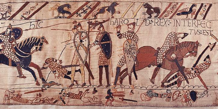 King Harold's defeat at the battle of Hastings 1066BC
