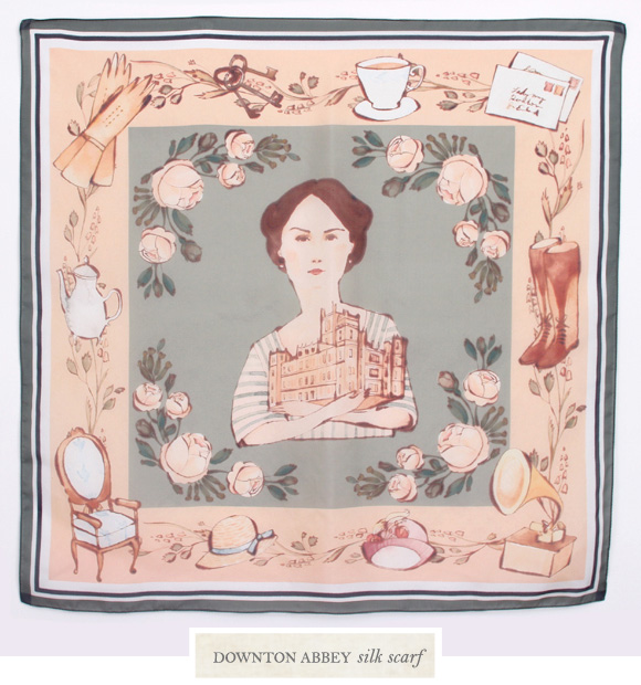 Downton Abbey silk scarf designed by  Kelsey Garrity Riley