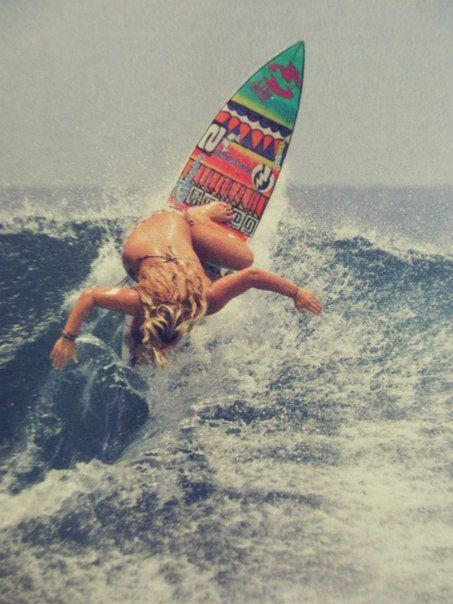 patterned surf board
