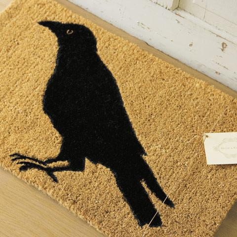 crow door mat