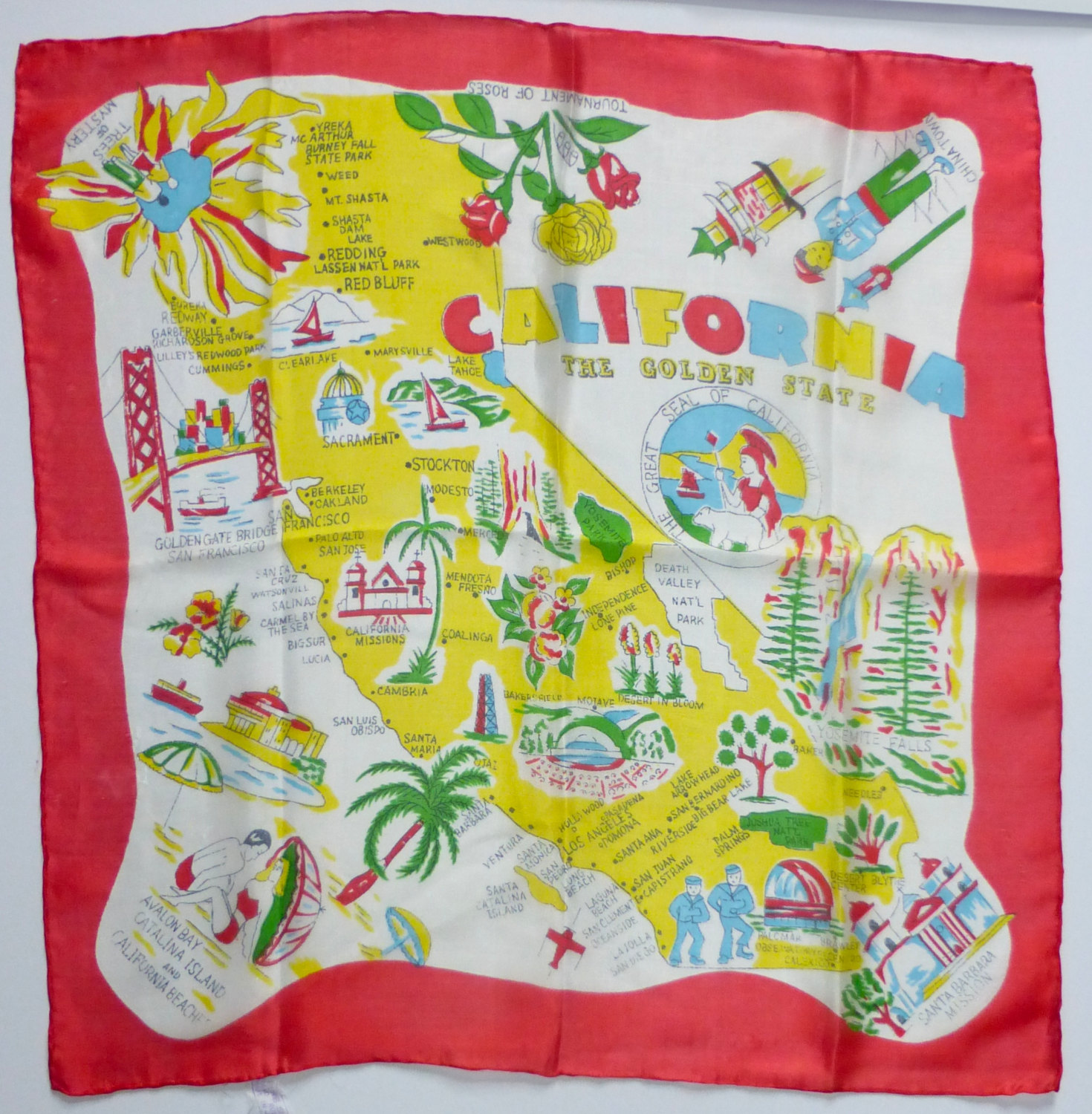 fantastic vintage scarf the story of the Golden state
