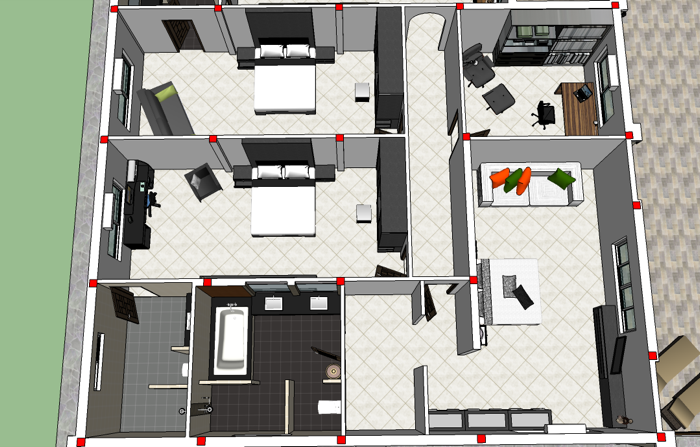 Ban Lao Four Bedroom Home Design Nkd