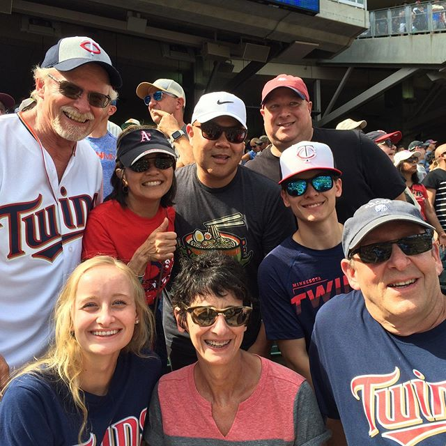 Twins day with the family. And they won - last batter, last inning. The stadium was #deafening!