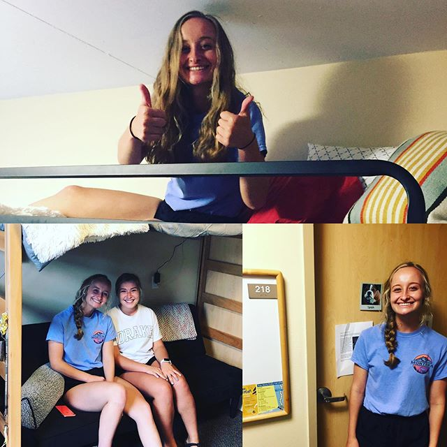 Move in day complete! Smiles and confidence all around. @drakeuniversity