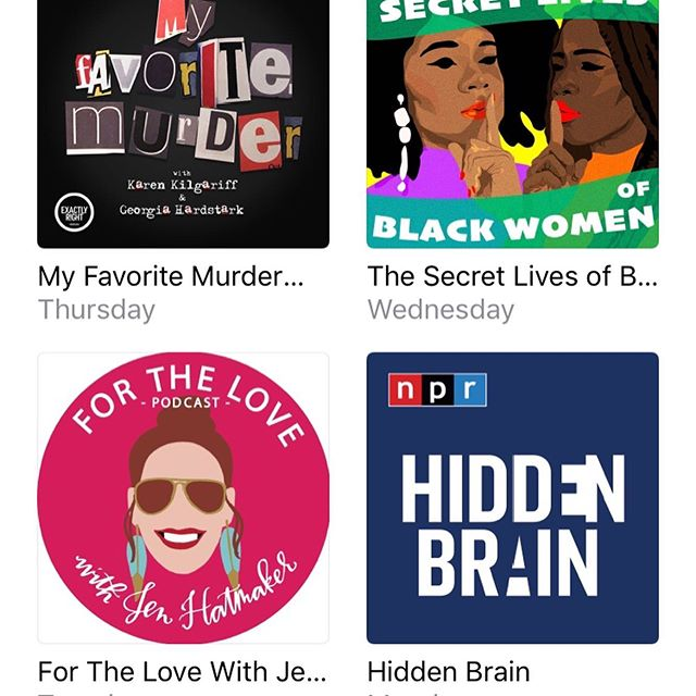 My current podcast situation. What are you listening to? What am I missing?