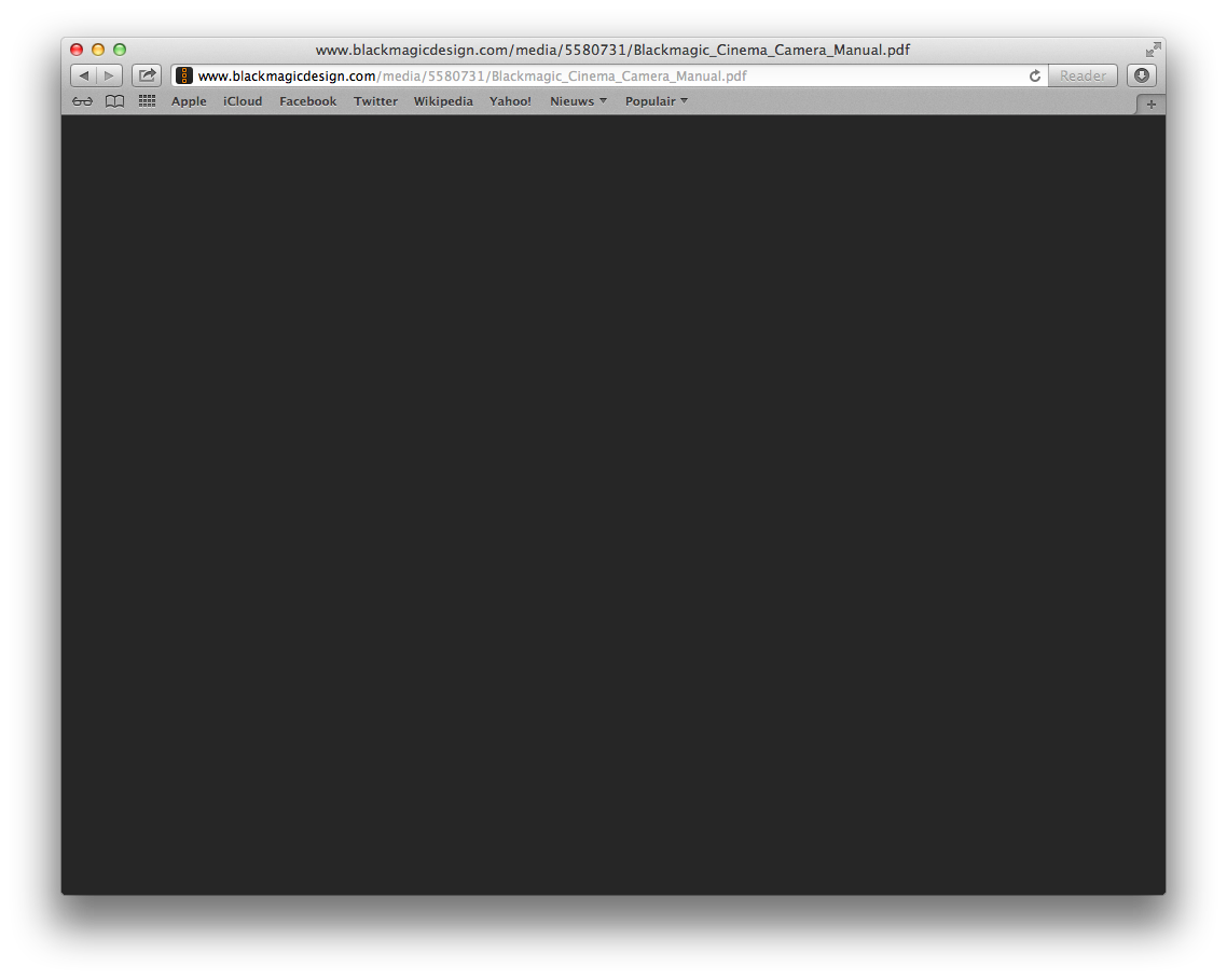 Safari met niet werkende PDF plugin