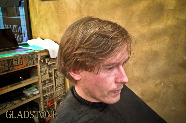 Having a good head of hair like this gives us lots of options for restyling. Having a head of hair like this is not good!