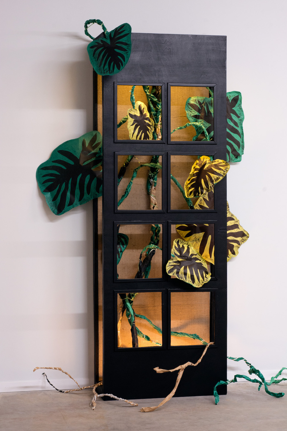 Window Box with Philodendron