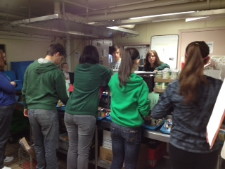 Bishop Ludden High School Students Assemble Blizzard Packs
