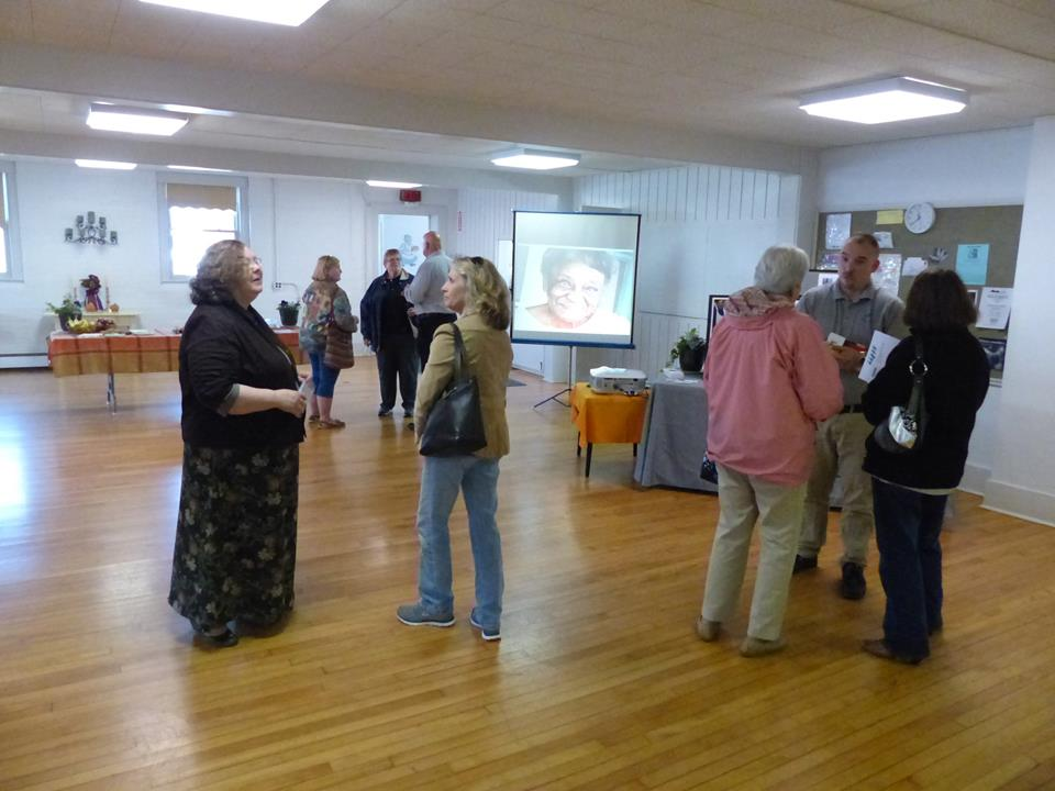 Visitors attend Meals on Wheels Open House at the Skaneateles United Methodist Church.