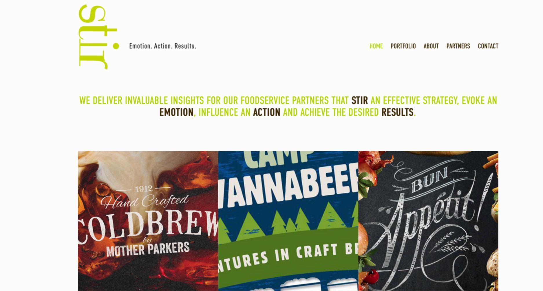 Stir Creative Communications Website