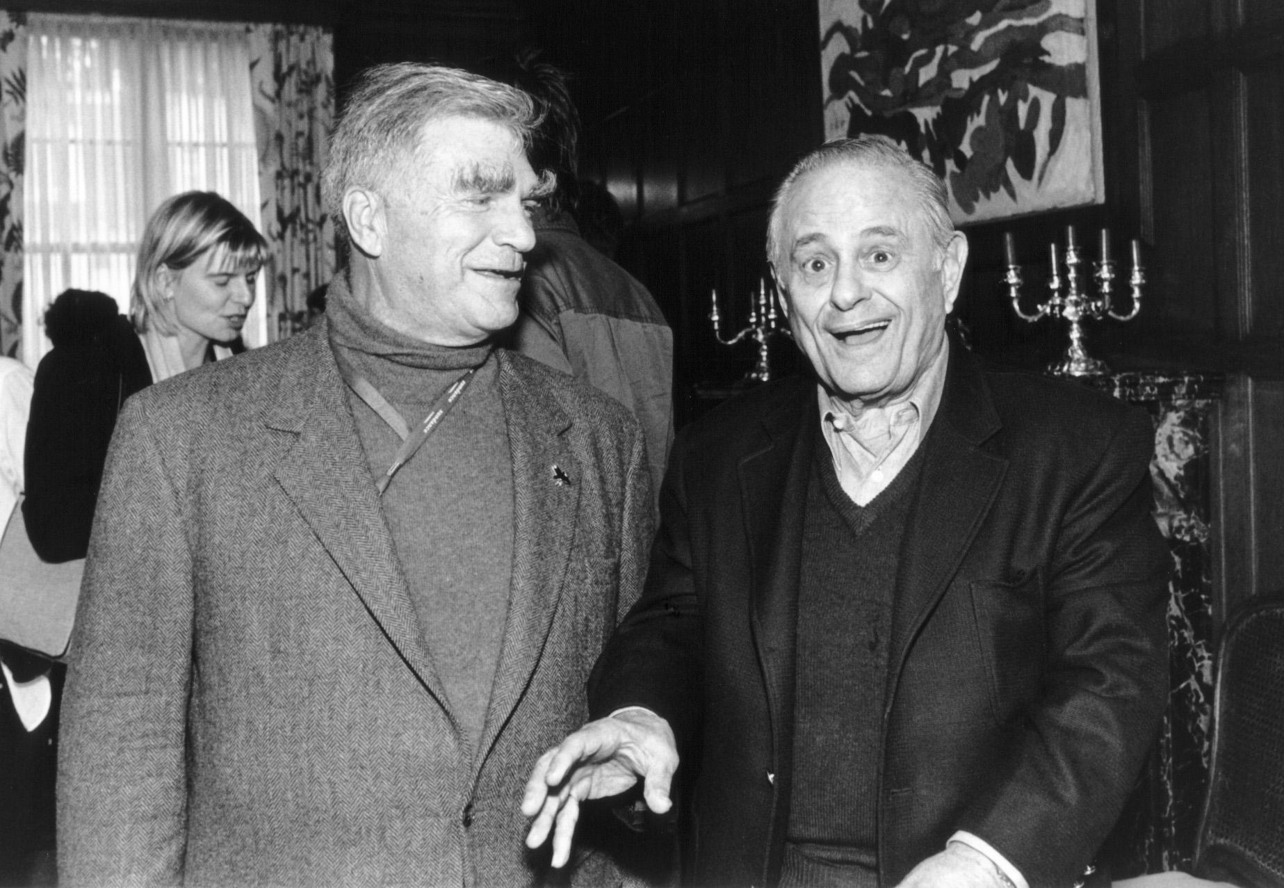 George Gund III and fellow SFFS board member Maurice Kanbar at the 47th San Francisco International Film Festival, 2004.  Photo by Pamela Gentile.