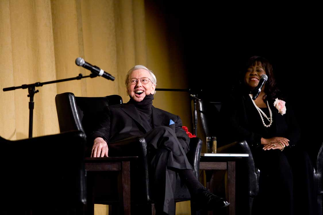 Roger and Chaz Ebert At The Castro Theatre For An Evening with Roger Ebert and Friends